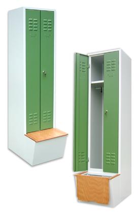 multilocker garderobenschrank mit vorgebautem schuhkasten und sitzbank. Black Bedroom Furniture Sets. Home Design Ideas